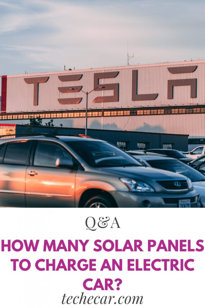 how many solar panels to charge an electric car