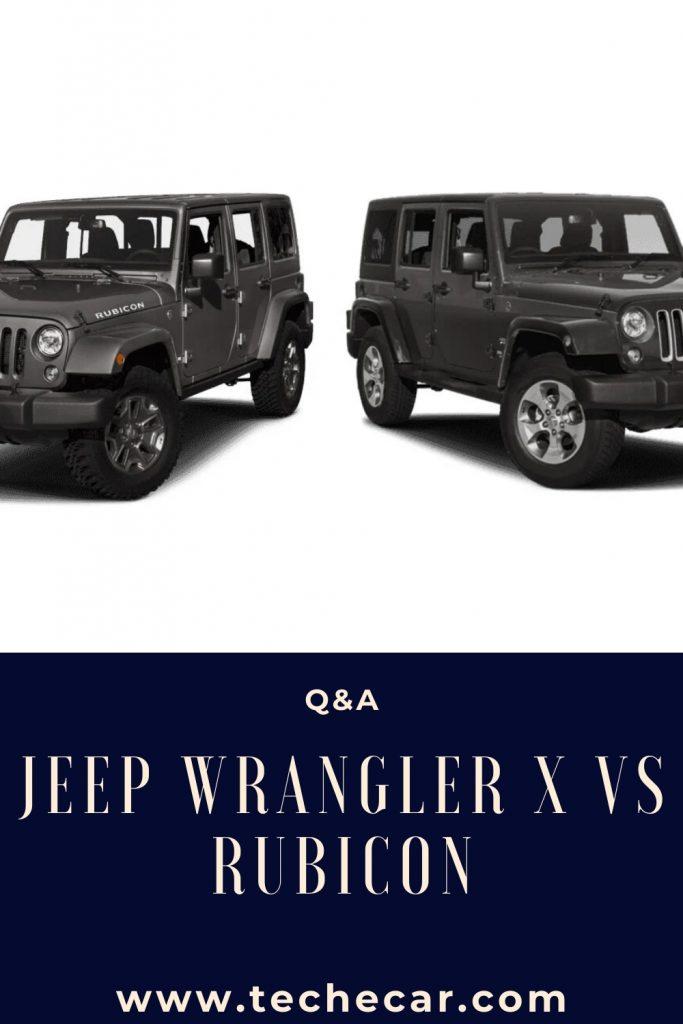 Jeep Wrangler X VS Rubicon
