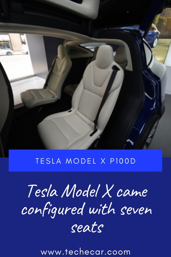 Tesla Model X came configured withseven seats